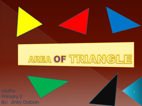KS2 Introduction to Area of Triangles