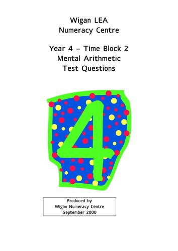 Year 4 mental arithmetic tests