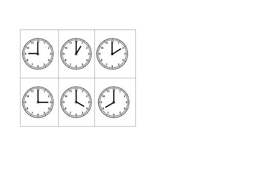 Time Bingo O'Clock