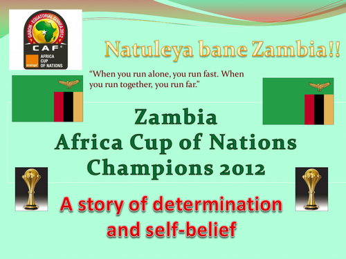 Zambia African Cup of Nations Champions 2012