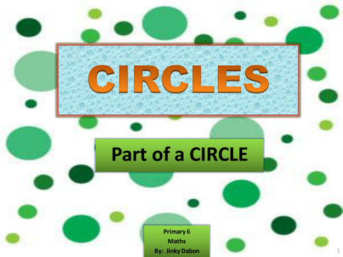 Ks2 Introduction To Parts Of A Circle By Jinkydabon Teaching