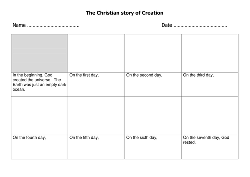 Creation Storyboard Differentiated By Skillswithfrills Teaching