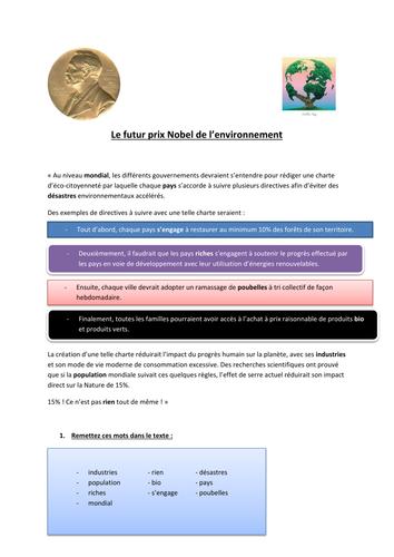 le futur prix Nobel de l'environnement