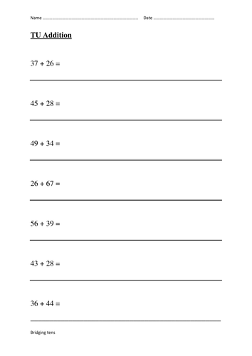 Addition Using A Blank Number Line By Jmarshall45 Teaching