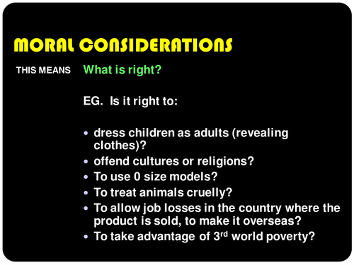 Moral, Environmental, Social and Sustainable intro