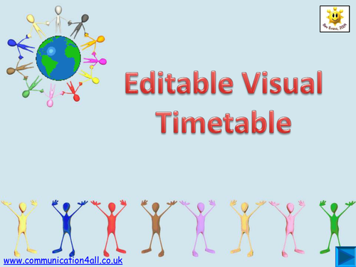 Editable Visual Timetable with Hyperlinks by bevevans22 - Teaching ...
