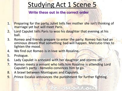 English coursework romeo and juliet act 3 scene 5