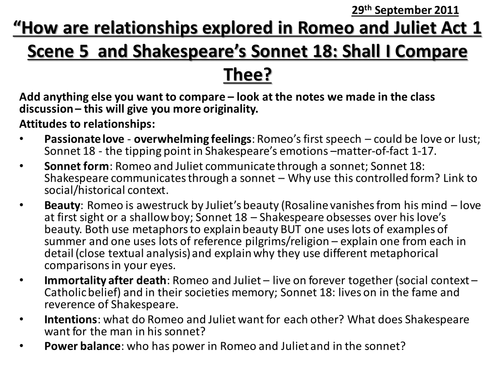 an analysis of the arrangement of shakespeares sonnet 18 View sonnet 18 from english la ap lit at florida virtual high school 0404 reality of love: shakespeares sonnets choice 1: is the arrangement clear and logical.