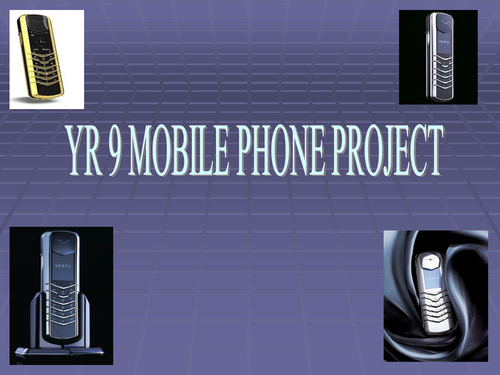 KS3 MOBILE PHONE PROJECT
