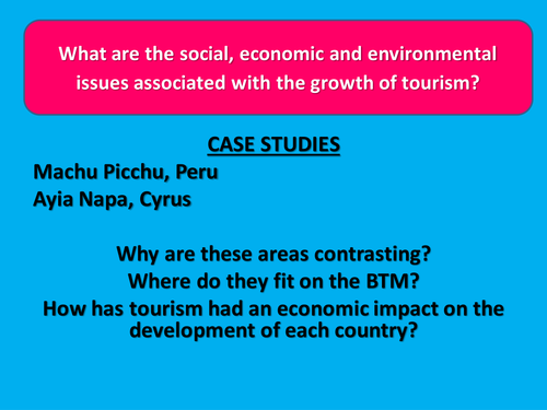 Issues with growth of tourism