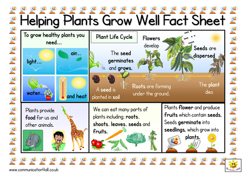 helping plants grow well double sided fact sheet by