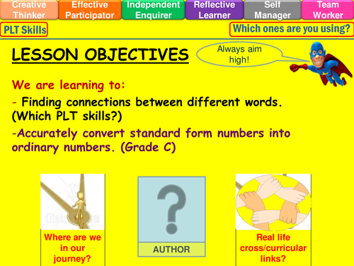 Standard Form To Ordinary Number Lesson By Mistrym03 Teaching