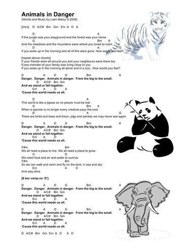 Endangered Animals Song Animals In Danger By Johnnyraindrop