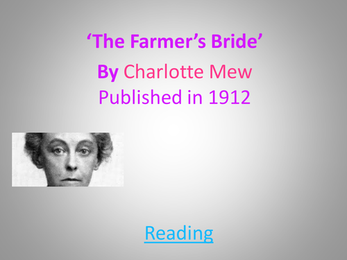 The Farmer's Bride by Charlotte Mew Relationships