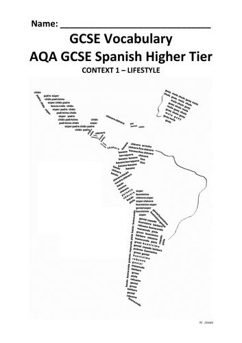 Vocabulary booklets for Spanish GCSE (AQA)