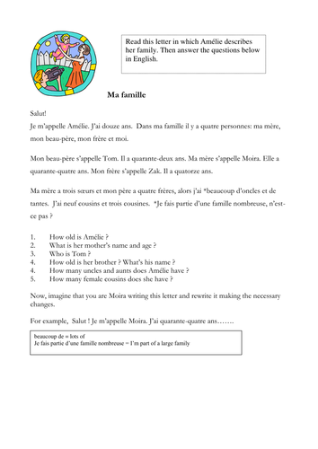 ma famille french essay Ma famille french keyword essays and term papers available at echeatcom, the largest free essay community.