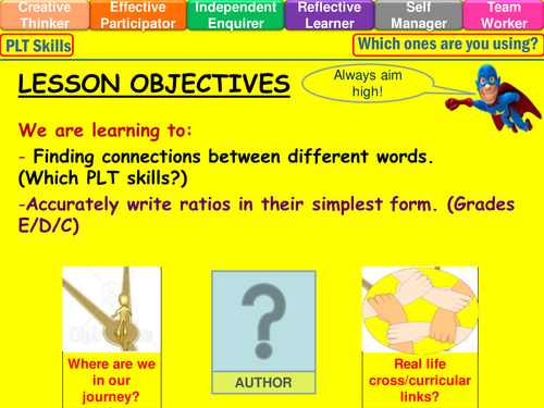 simplest form questions  Ratio in their simplest form lesson