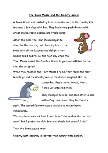 Popular Fable Story Worksheets By Corrinep Teaching
