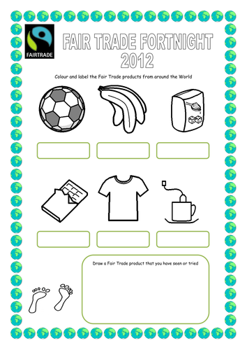 Fair Trade Products To Colour In By Lbrowne Teaching Resources Tes
