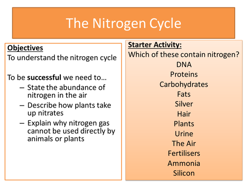 The nitrogen cycle by emmalewington teaching resources tes ccuart Image collections