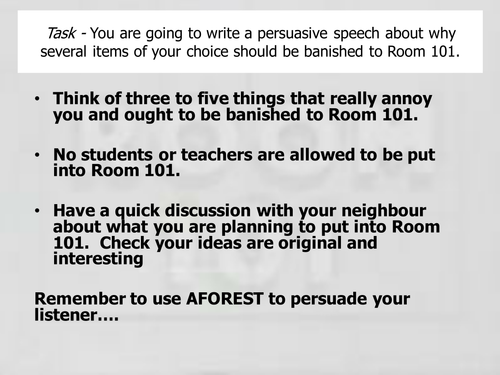 writing a persuasive speech gcse
