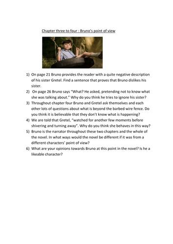 boy in the striped pyjamas bruno worksheet by missrathor teaching resources tes. Black Bedroom Furniture Sets. Home Design Ideas
