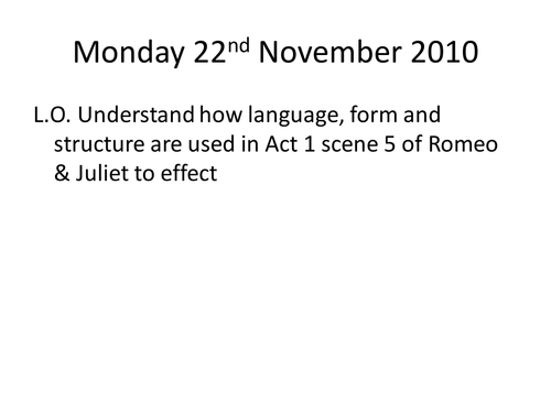 Iambic Pentameter And Sonnet Act 1 Scene 5 Rj By He4therlouise