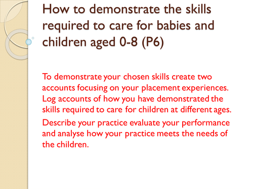 BTEC - Childcare - Baby care