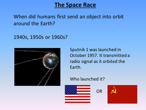 The Space Race: Interactive Powerpoint