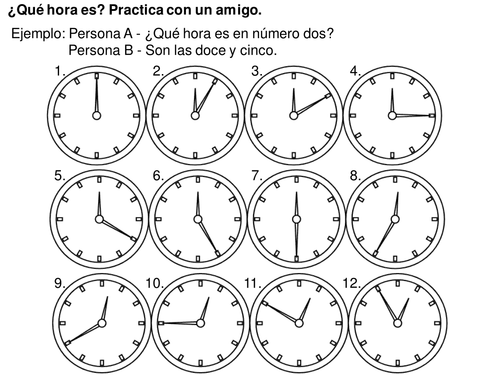 All Worksheets Telling Time In Spanish Worksheets Free – Time Practice Worksheets