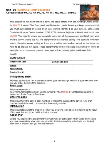 colai unit 2 assignment brief