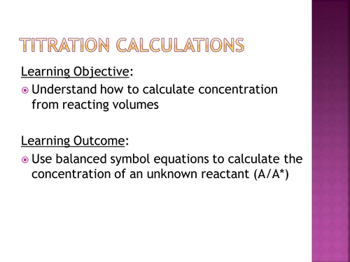 Titration calculations by salreid Teaching Resources Tes – Titration Problems Worksheet