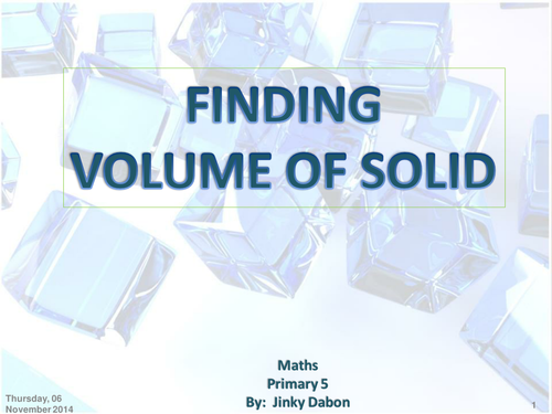 KS2 Introduction to Volume of Cuboid