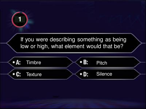 Who wants to be a millionaire style quiz by cleg145 for Who want to be a millionaire game template