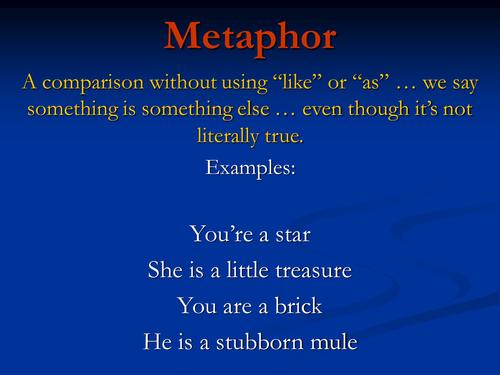 Figurative Language Similes Senses Metaphors By Johncallaghan