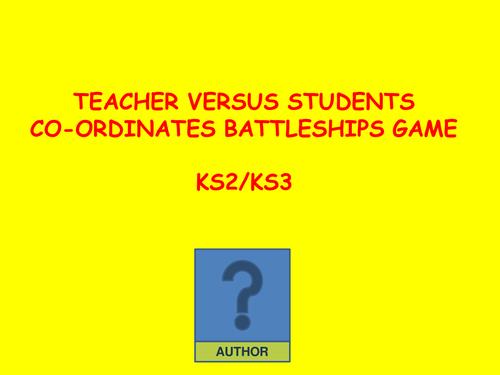 Battleships Co-ordinates Teacher V Students
