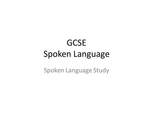 GCSE Spoken Language Analysis