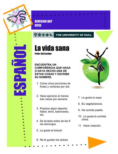 La vida sana (Health and healthy lifestyle)