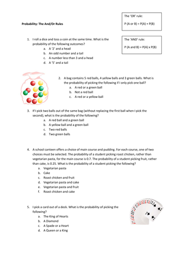 And/Or Rule Worksheet by fionajones88 | Teaching Resources