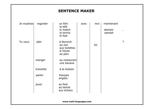 A sentence maker