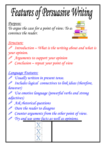 Features of persuasive writing poster by moshing teaching features of persuasive writing poster by moshing teaching resources tes spiritdancerdesigns Images