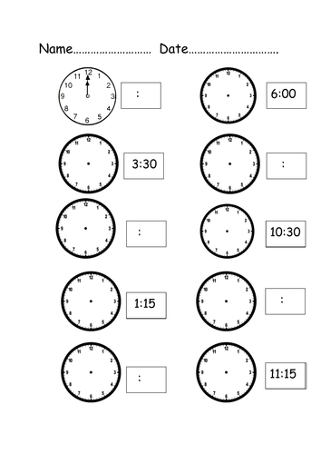 Digital and Analogue Clocks by hadassaboyar - Teaching Resources - Tes