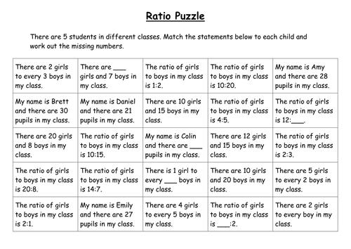 Ratio Puzzle