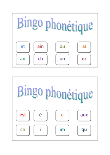 a game to assess phonetics from KS3 onwards