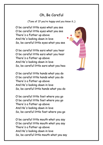 O Be Careful, Little Eyes - childbiblesongs.com