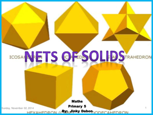 Nets for making 3d shapes by asnac - Teaching Resources - Tes
