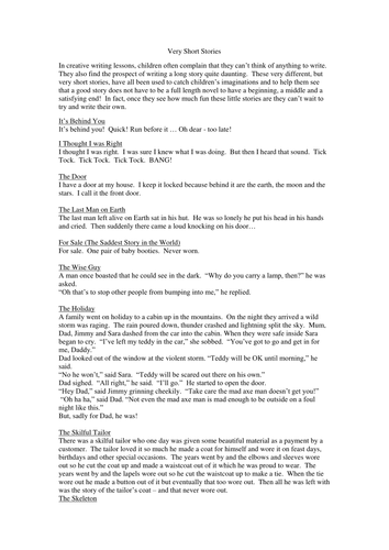 short stories for creative writing class