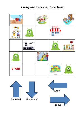 Y1 Position And Direction Activity By Noaddedsugar Teaching