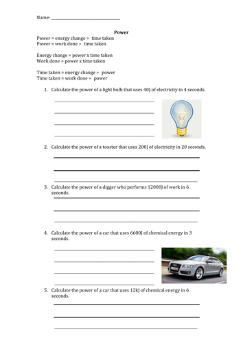 Work, Energy and Power Task Card Activity by TeachWithFergy