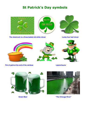 St Patricks Day Symbols By Ptrtownend Teaching Resources Tes